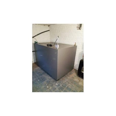 Cuve mazout 2500 litres rectangulaire fabrication en cave