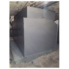 Cuve mazout 1250 litres rectangulaire acier 3mm double paroi fabrication en cave