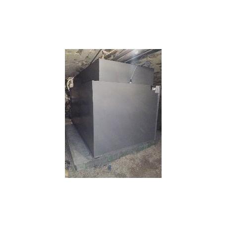 Cuve mazout 1200 litres rectangulaire double paroi fabrication en cave