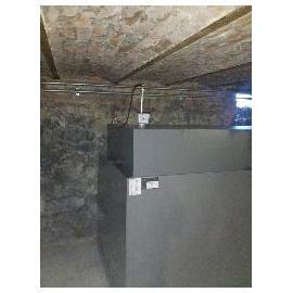 Cuve mazout 2800 litres rectangulaire fabrication en cave avec bac