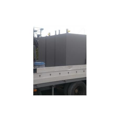 Cuve mazout 1200 litres modèle normal rectangulaire acier 3mm simple paroi.