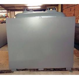 Cuve mazout  1500 litres double paroi amovible extérieur acier intérieur plastique